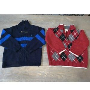 Lot of 2 Sweaters Nautica & Children's Place READ